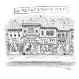The Red-Light Accounting District - New Yorker Cartoon Premium Giclee Print by Roz Chast