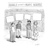 Rebels Without a Magic Marker - New Yorker Cartoon Premium Giclee Print by Roz Chast