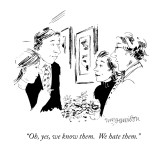 """Oh, yes, we know them.  We hate them."" - New Yorker Cartoon Premium Giclee Print by William Hamilton"