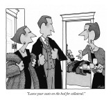"""Leave your coats on the bed for collateral."" - New Yorker Cartoon Premium Giclee Print by William Haefeli"