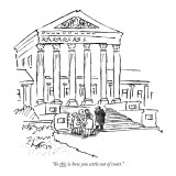 """""""So this is how you settle out of court."""" - New Yorker Cartoon Premium Giclee Print by Sidney Harris"""