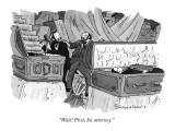 """""""Wait! First, his attorney."""" - New Yorker Cartoon Premium Giclee Print by Danny Shanahan"""