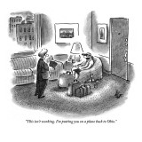 """This isn't working. I'm putting you on a plane back to Ohio."" - New Yorker Cartoon Premium Giclee Print by Frank Cotham"