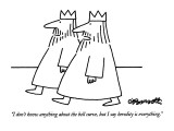 """I don't know anything about the bell curve, but I say heredity is everyth…"" - New Yorker Cartoon Premium Giclee Print by Charles Barsotti"