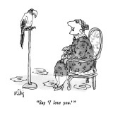 """Say 'I love you.' "" - New Yorker Cartoon Premium Giclee Print by William Steig"