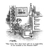 """Dear Santa: How about lunch with me at twelve-thirty on the twentieth at …"" - New Yorker Cartoon Premium Giclee Print by Henry Martin"