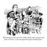"""Bob's family has been here since 1948, which, where you guys come from, i…"" - New Yorker Cartoon Premium Giclee Print by William Hamilton"