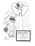 Mr. Lima Bean contemplates the vicissitudes of life - Cartoon Premium Giclee Print by Leo Cullum