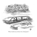 """Please translate my comment into a hand gesture."" - New Yorker Cartoon Premium Giclee Print by Frank Cotham"
