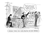 """""""George Sand Has Some People In For Drinks"""" - New Yorker Cartoon Premium Giclee Print by Edward Frascino"""