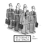 Attorney Six-Pack - New Yorker Cartoon Premium Giclee Print by Leo Cullum