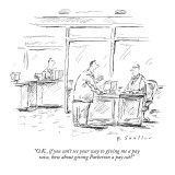 """O.K., if you can't see your way to giving me a pay raise, how about givin…"" - New Yorker Cartoon Premium Giclee Print by Barbara Smaller"