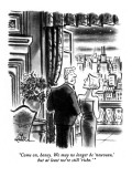 """""""Come on, honey.  We may no longer be 'nouveau,' but at least we're still …"""" - New Yorker Cartoon Premium Giclee Print by Ed Fisher"""