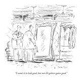 """I want it to look good, but not ill-gotten-gains good."" - New Yorker Cartoon Premium Giclee Print by Barbara Smaller"