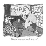 """You gotta multiply dog years by seven, pal."" - New Yorker Cartoon Premium Giclee Print by Gahan Wilson"