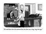 """He could have been the national bird, but that was a long, long time ago."" - New Yorker Cartoon Premium Giclee Print by Danny Shanahan"