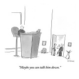 &quot;Maybe you can talk him down.&quot; - New Yorker Cartoon Premium Giclee Print by Liza Donnelly
