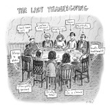 The Last Thanksgiving - New Yorker Cartoon Premium Giclee Print by Roz Chast