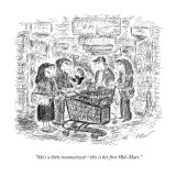 """She's a little traumatized—this is her first Wal-Mart."" - New Yorker Cartoon Premium Giclee Print by Edward Koren"
