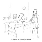"""It's your ribs. I'm afraid they're delicious."" - New Yorker Cartoon Premium Giclee Print by Paul Noth"
