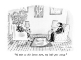 &quot;As soon as the leaves turn, my hair goes crazy.&quot; - New Yorker Cartoon Premium Giclee Print by Victoria Roberts