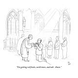 """I'm getting red fruits, earth tones, and oak.  Amen."" - New Yorker Cartoon Premium Giclee Print by Paul Noth"