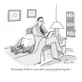 """Eventually, I'd like to see you able to put yourself back together."" - New Yorker Cartoon Premium Giclee Print by Leo Cullum"