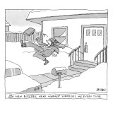 """""""My new electric head-warmer surprises me every time"""" - New Yorker Cartoon Premium Giclee Print by Jack Ziegler"""