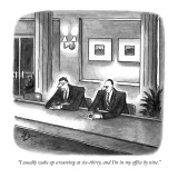 """I usually wake up screaming at six-thirty, and I'm in my office by nine."" - New Yorker Cartoon Premium Giclee Print by Frank Cotham"