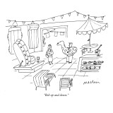 """Bob up and down."" - New Yorker Cartoon Premium Giclee Print by Michael Maslin"