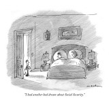 """I had another bad dream about Social Security."" - New Yorker Cartoon Premium Giclee Print by Michael Maslin"