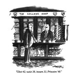 """Chest 42, waist 38, inseam 33, Princeton '48."" - New Yorker Cartoon Premium Giclee Print by Henry Martin"