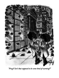 """""""Frogs?  Isn't that supposed to be some kind of warning?"""" - New Yorker Cartoon Premium Giclee Print by Ed Fisher"""