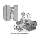 """Harry seldom leaves his retirement cubicle."" - New Yorker Cartoon Premium Giclee Print by Gahan Wilson"