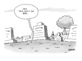 'Say, this isn't so bad.' - New Yorker Cartoon Premium Giclee Print by Jack Ziegler