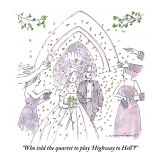 """Who told the quartet to play 'Highway to Hell'?"" - New Yorker Cartoon Premium Giclee Print by Michael Crawford"