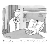 """""""If there's anything more we can do for you, don't hesitate to fill out th…"""" - New Yorker Cartoon Premium Giclee Print by Peter C. Vey"""
