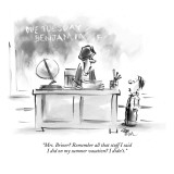 """Mrs. Briner? Remember all that stuff I said I did on my summer vacation? …"" - New Yorker Cartoon Premium Giclee Print by Lee Lorenz"