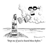 """""""Stop me if you've heard these before."""" - New Yorker Cartoon Premium Giclee Print by Danny Shanahan"""
