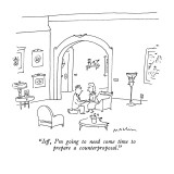 """Jeff, I'm going to need some time to prepare a counterproposal."" - New Yorker Cartoon Premium Giclee Print by Michael Maslin"