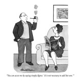 """You can access me by saying simply 'Agnes.'  It is not necessary to add '…"" - New Yorker Cartoon Premium Giclee Print by J.B. Handelsman"