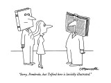 """Sorry, Pembroke, but Telford here is lavishly illustrated."" - New Yorker Cartoon Premium Giclee Print by Charles Barsotti"