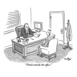 """""""Think outside the office."""" - New Yorker Cartoon Premium Giclee Print by Robert Leighton"""