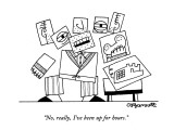 """""""No, really, I've been up for hours."""" - New Yorker Cartoon Premium Giclee Print by Charles Barsotti"""
