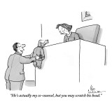 """He's actually my co-counsel, but you may scratch his head."" - New Yorker Cartoon Premium Giclee Print by Leo Cullum"