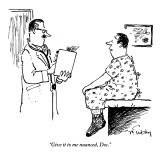 &quot;Give it to me nuanced, Doc.&quot; - New Yorker Cartoon Premium Giclee Print by Mike Twohy