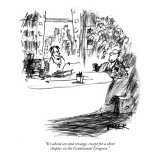 """""""It's about sex and revenge, except for a short chapter on the Continental…"""" - New Yorker Cartoon Premium Giclee Print by Robert Weber"""