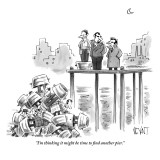 """I'm thinking it might be time to find another pier."" - New Yorker Cartoon Premium Giclee Print by Christopher Weyant"