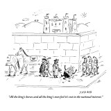 """""""All the king's horses and all the king's men feel it's not in the nationa…"""" - New Yorker Cartoon Premium Giclee Print by David Sipress"""