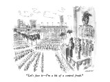 """Let's face it—I'm a bit of a control freak."" - New Yorker Cartoon Premium Giclee Print by James Stevenson"